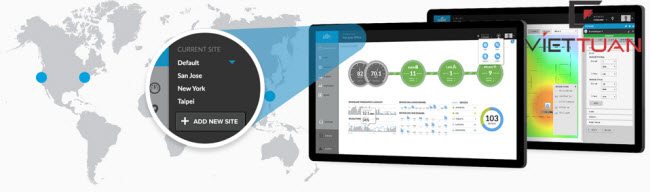 giải pháp quản lý tập trung unifi controller với Bộ phát unifi ac pro (UAP‑AC‑PRO)