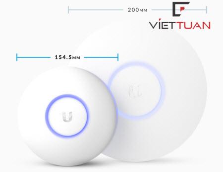 Bộ phát wifi Unifi AC Lite (UAP-AC-Lite) có kích thước nhỏ hơn so với UAP AC LR