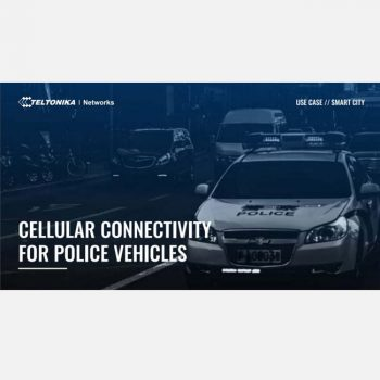 Giải pháp kết nối di động cho xe cảnh sát với bộ định tuyến Router WiFi 4G công nghiệp của Teltonika-Networks
