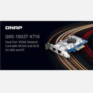 Hãng QNAP ra mắt Card mạng 10GbE Kép QXG-10G2T-X710 với SR-IOV và iSCSI cho NAS và PC