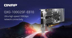QNAP ra mắt Card mạng mở rộng Dual-port 100GbE QXG-100G2SF-E810, với Bộ điều khiển Ethernet Intel E810 cho Windows/Linux và NAS QNAP